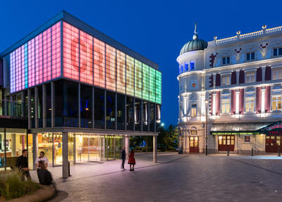 Crucible Theatre at night